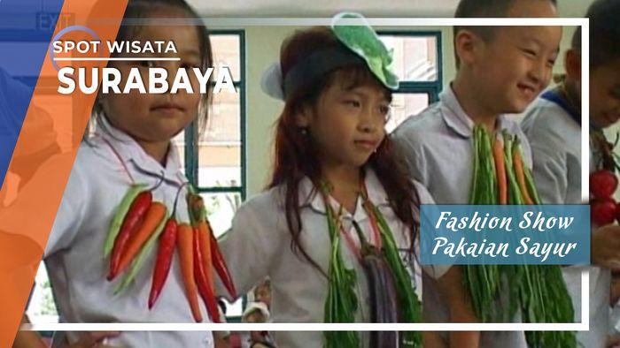 Fashion Show Pakaian Sayur, Surabaya