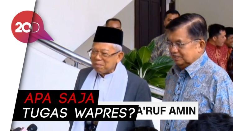 Pertemuan JK & Maruf Amin Bahas Tugas Wapres