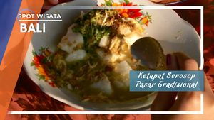 Sarapan Ketupat Serosop Pasar Tradisional Bali