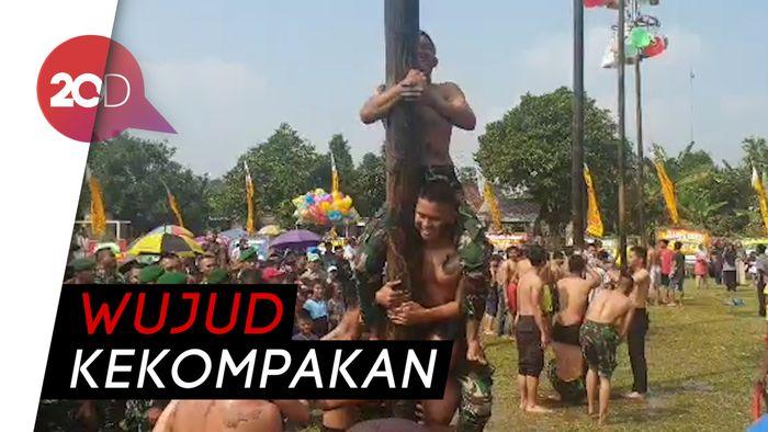 HUT ke-73 Bhayangkara, TNI-Polri Bahu-membahu Capai Pucuk Pinang