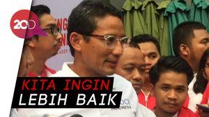 Jokowi-Prabowo Bertemu, Ini Komentar Sandiaga