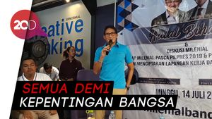Sandi ke Pendukung yang Kecewa: Jangan Marah ke Prabowo dan Saya