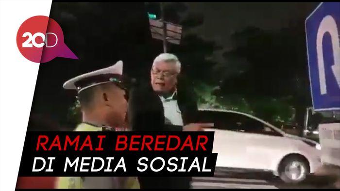 Viral Polantas Surabaya Diceramahi Profesor soal Rambu Lalin