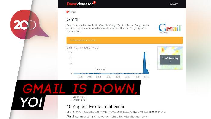 Layanan Gmail Down, Netizen Ngeluh