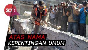 Meski Mendapat Penolakan, Pemkot Surabaya Bongkar Tembok yang Blokir Jalan Raya