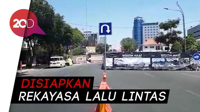 Ada Pembangunan Alun-alun, Jalan Yos Sudarso Surabaya Ditutup Sementara