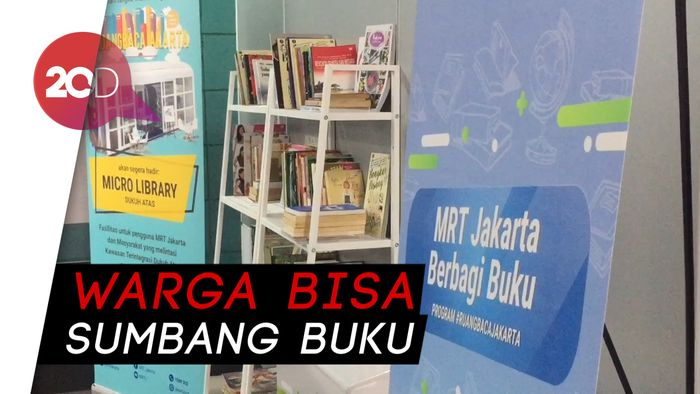 Cara Anies Tingkatkan Minat Baca Warga, Buka Ruang Baca di Stasiun MRT