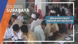 Menyusun Huruf Hijaiyah dari Biji Kurma, Surabaya