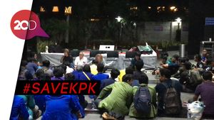 Suasana Malam di KPK, Jelang Detik-detik Pengumuman Pimpinan