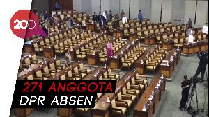 Kursi Kosong Hiasi Rapat Paripurna Revisi UU KPK