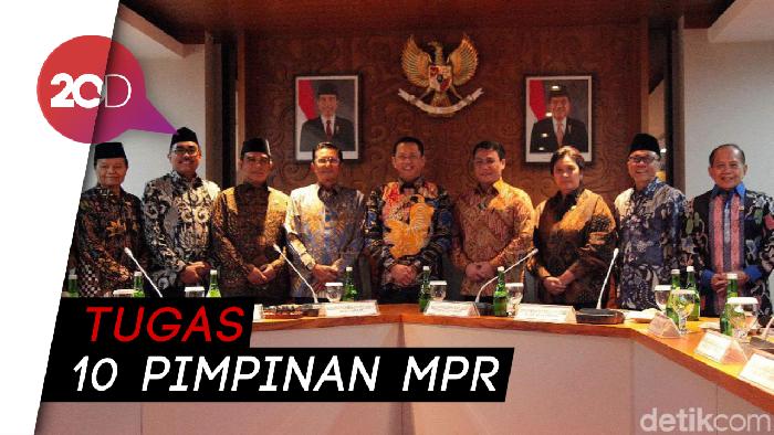 Sah! Ini Pembagian Tugas 10 Pimpinan MPR 2019-2024