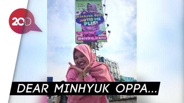 Terniat! ABG Bekasi Pasang Baliho Demi Bertemu Idola K-Pop
