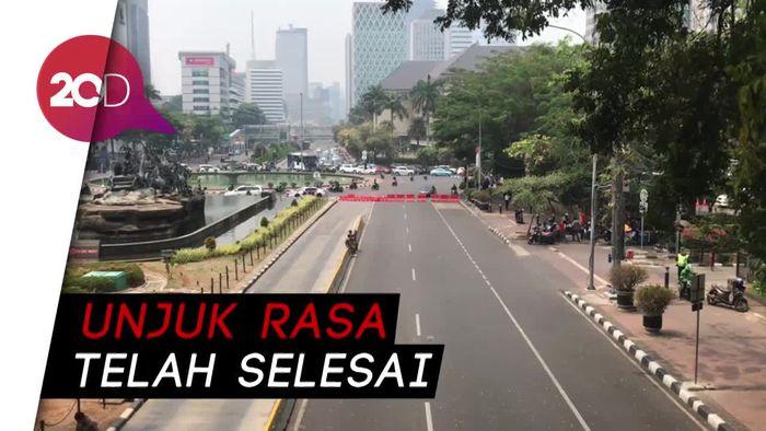 Demo Petani Usai, Lalu Lintas di Jalan Medan Merdeka Barat Normal