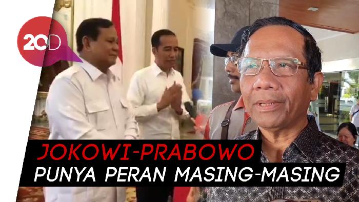Mahfud soal Pertemuan Jokowi-Prabowo: Bahas Persoalan Indonesia ke Depan
