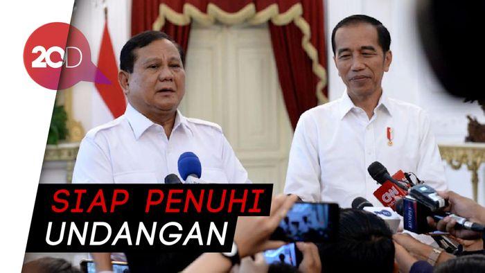 Prabowo Pastikan Hadiri Pelantikan Jokowi-Maruf