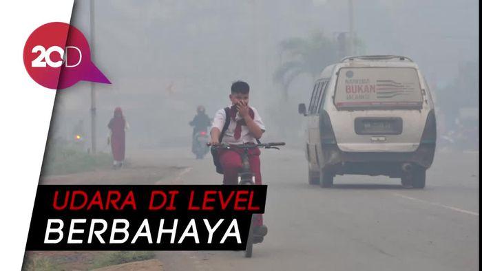 Kabut Asap Pekat Selimuti Jambi, Sekolah Diliburkan