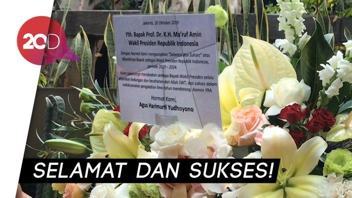 AHY Kirim Karangan Bunga untuk Maruf Amin