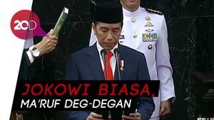 Beda Perasaan Jokowi dan Maruf Amin di Momen Pelantikan