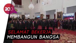 Sah! Menteri Kabinet Indonesia Maju Jokowi-Maruf Amin Dilantik