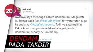 Andi Arief Sebut Dendam Megawati ke SBY Turun Sampai AHY