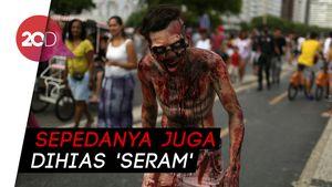 Halloween Datang! Para Zombie Bersepeda Cari Mangsa di Florida