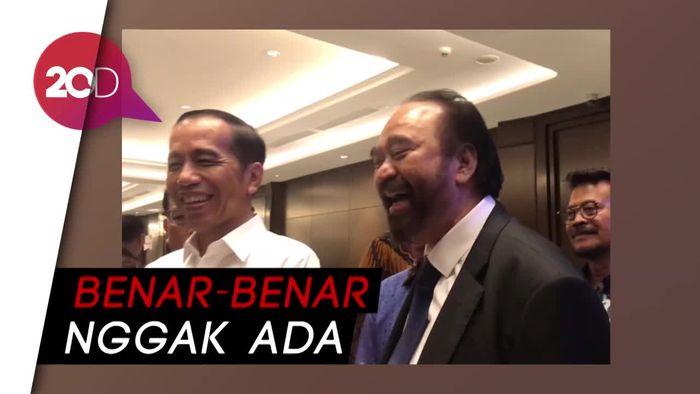 Dianggap Ngambek Karena Jatah Menteri, Paloh: Sejujur-Jujurnya Enggak!
