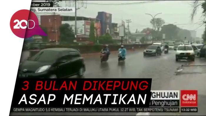 Turunnya Hujan dan Harapan Warga Palembang Terbebas Asap
