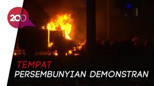 Jadi Medan Tempur, Universitas di Hong Kong Terbakar
