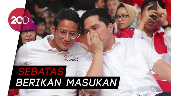 Meski Dekat dengan Erick Thohir, Sandiaga Bantah Tawaran Jabatan BUMN