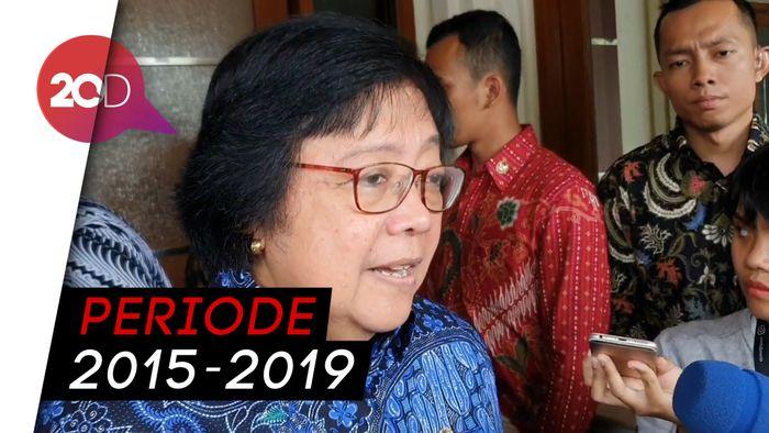 Sambangi Kantor Mahfud, Menteri Siti Lapor Progres Penanganan Karhutla