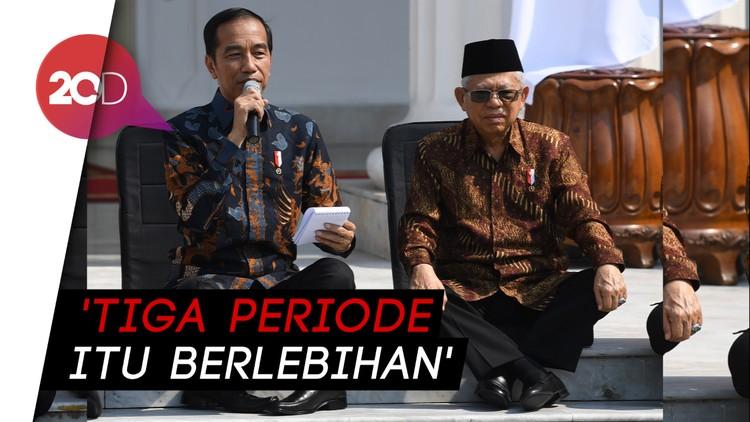 Catat! Jokowi-Maruf Amin Kompak Tolak Wacana Presiden 3 Periode