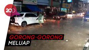 Air Gorong-gorong Meluap, Jalur Cibadak-Bogor Terendam Banjir