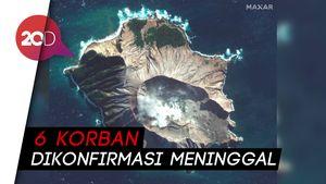 Gunung Api di Selandia Baru Usai Meletus Dilihat dari Satelit