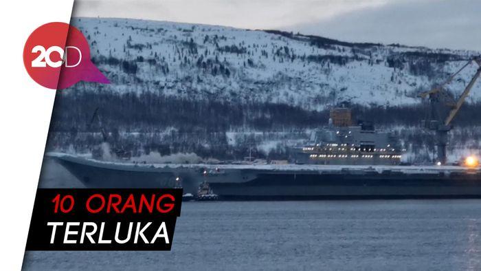 Kapal Induk Rusia Terbakar