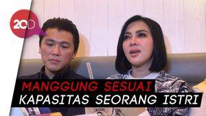 Jarang Manggung, Syahrini Fokus Urus Suami Selama Satu Tahun