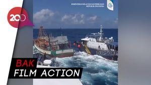 Tegang! Begini Proses KKP Tangkap Kapal Asing di Perairan Natuna