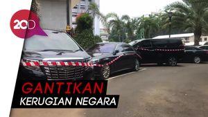 Mobil Sitaan Kasus Jiwasraya Mejeng di Kejaksaan Agung
