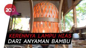 Kerennya Lampu Hias dari Anyaman Bambu