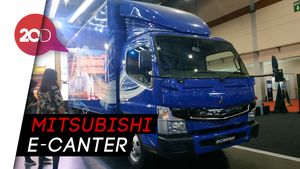 Penampakan Truk Listrik Mitsubishi di GIICOMVEC 2020
