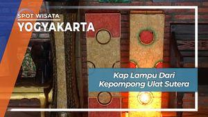 Kap Lampu dari Kepompong Ulat Sutera, Yogyakarta