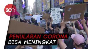 Demo George Floyd di New York Dihantui Virus Corona