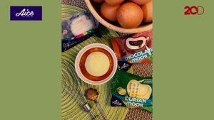 Cara Mudah buat Creme Brule dengan Aice Mochi Durian