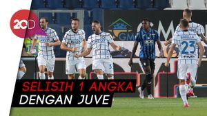 Inter Finis Kedua Serie A Setelah Kalahkan Atalanta