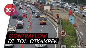 Arus Lalin Padat, Contraflow Diberlakukan di Tol Cikampek