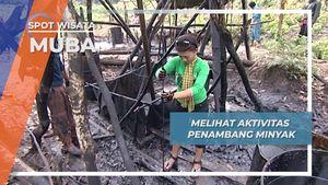 Melihat Aktivitas Penambang Minyak di Desa Sungai Angit, Muba