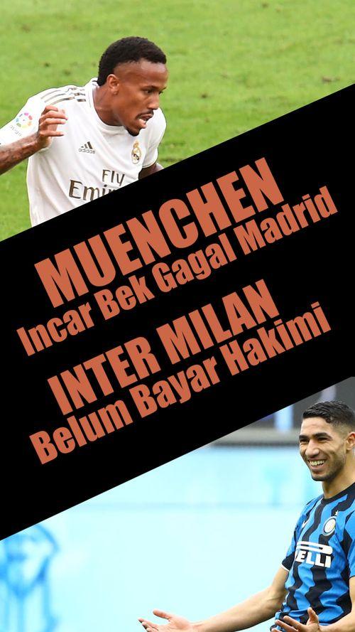 Muenchen Incar Bek Gagal Madrid, Inter Milan Belum Bayar Hakimi
