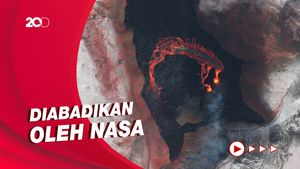 Potret Menakjubkan Gunung Api Islandia dari Angkasa