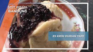 Segarnya Es Krim Durian Tape, Kuliner Legendaris dari Bandung
