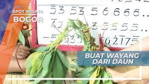 Berkreasi Membuat Wayang dari Daun Singkong, Bogor