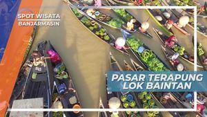 Lok Baintan, Pasar Terapung  Desa Sungai Pinang, kecamatan Sungai Tabuk, Banjarmasin